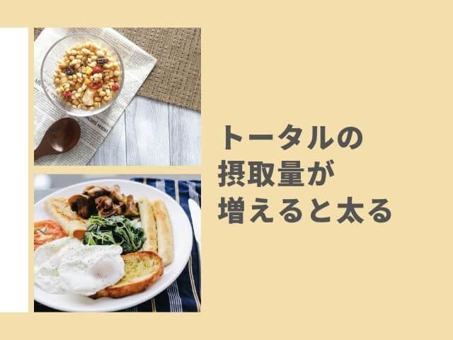 朝食の写真 フルグラの写真 トータルの摂取量が増えると太る
